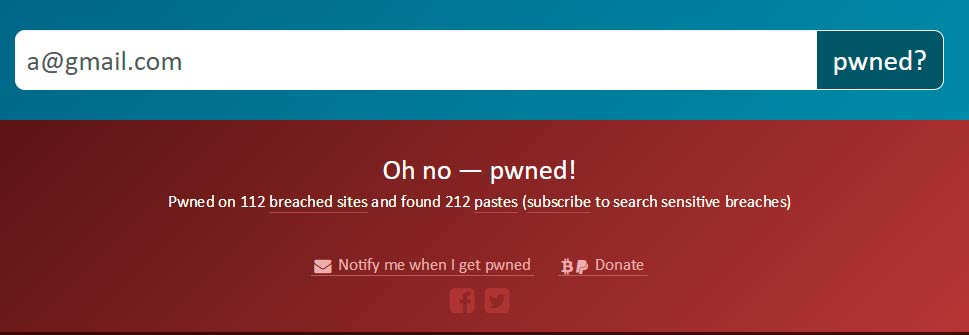 have i been pwned no ok