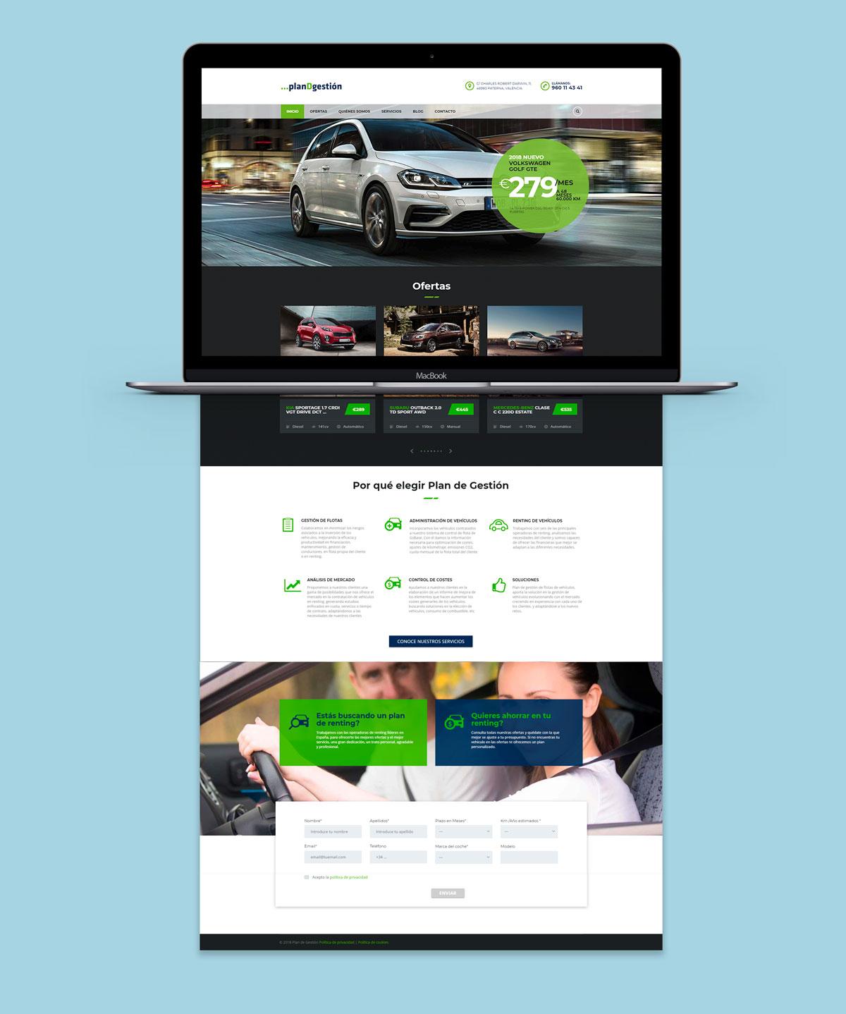 Diseño web Plan de Gestion
