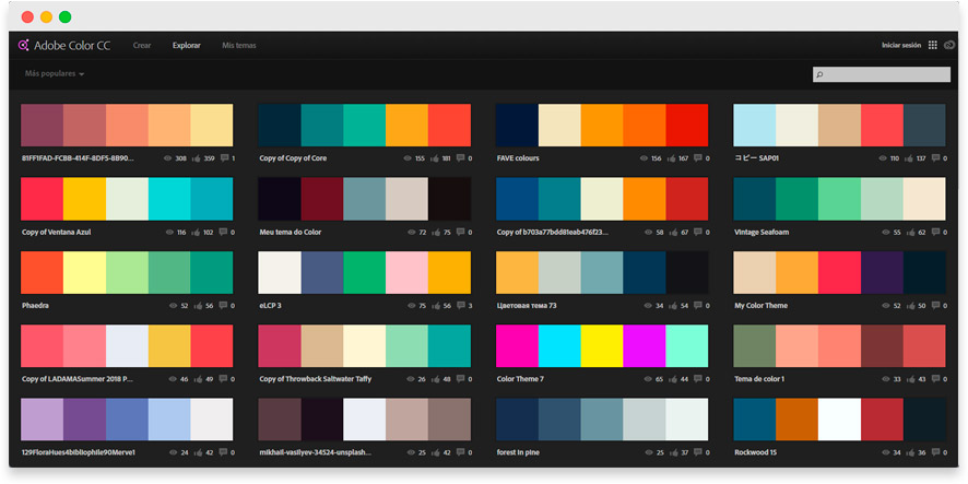 Palets de colores Flat