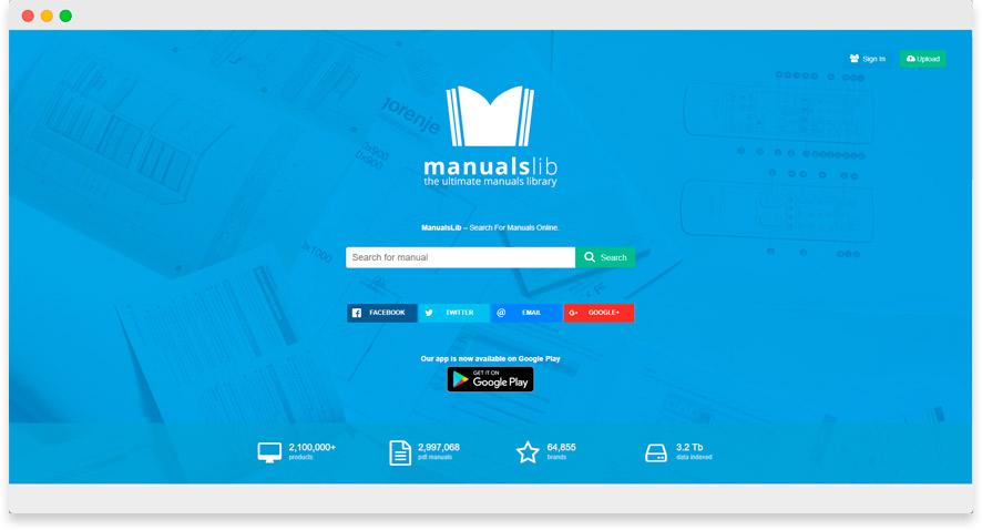Manuales de usuario con Manualslib