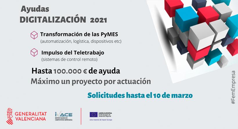 DIGITALIZA-CV - SUBVENCIONES PARA PROYECTOS DE DIGITALIZACIÓN DE PYME 2021